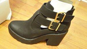 Stiefelette/ Ankle-boot Neu Plateau 42