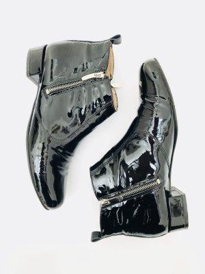 Stiefelette aus Lackleder von KMB in schwarz, Gr. 40