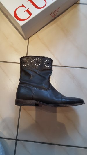 Guess Bottines brun cuir