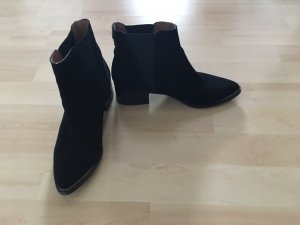 Sixtyseven Slip-on Booties black-silver-colored