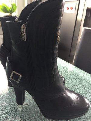 Belstaff Zipper Booties black leather