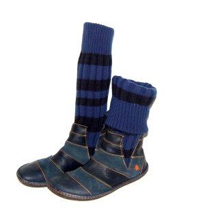 Stiefelette - Booties Leder und Strick von Art Gr.39