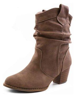 Wedge Booties brown