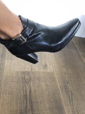 Stiefelette Damen Stuart Weitzman Leder schwarz Gr. 36,5 wie neu