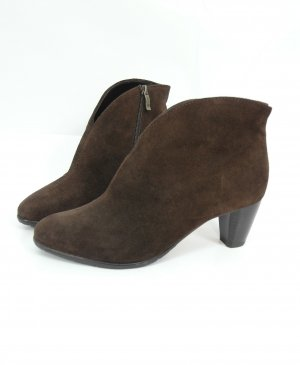 ara Zipper Booties brown-dark brown suede