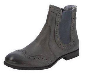 Stiefelette Gr. 37 grau Klassischer Chelsea-Boot
