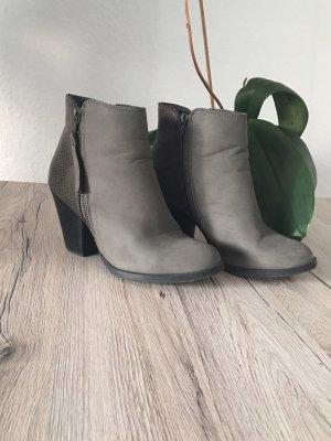 Stiefelette grau mit Reißverschluss