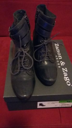 Stiefelette, Größe 37, Farbe Piombo, Leder, Marke Zanon & Zago Shoes, NP 119,00 €