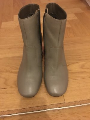 Asos Ankle Boots grey-light grey leather