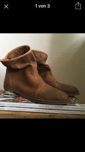Stiefelette Leder Boots Bootie Blogger Echtleder wie neu
