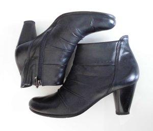 Stiefelette Leder weich nachtblau fast schwarz