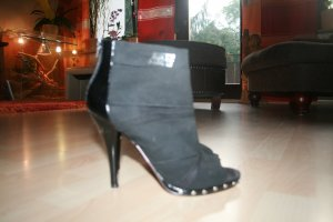 Stiefelette Miss Sixty schwarz Stoff mit Leder Gr. 40