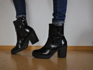 H&M Platform Booties black imitation leather