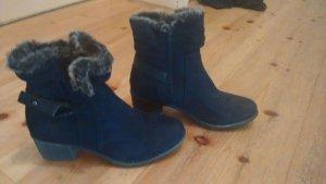 Esmara Booties dark blue-silver-colored