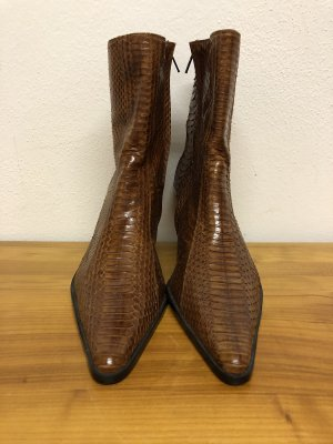 Western Booties cognac-coloured
