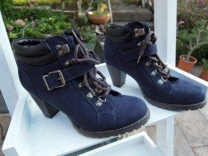 Graceland Patucos con cordones azul oscuro