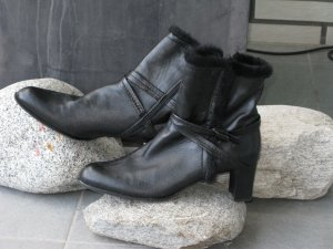 Stuart weitzman Zipper Booties black leather