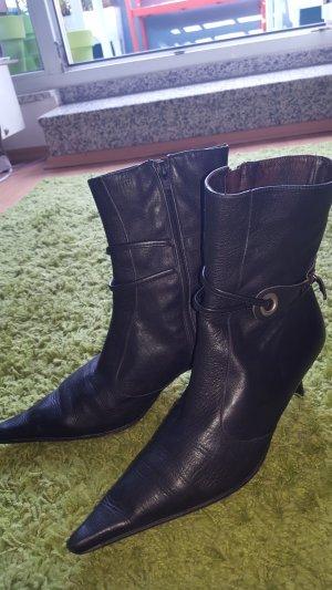Stiefelette schwarz Leder Gr. 39