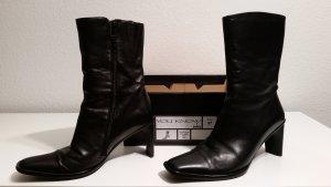 Zipper Booties black leather