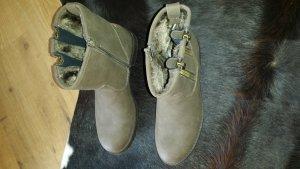 Bench Stivaletto con zip marrone-grigio Finta pelle