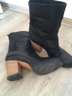 Shabbies amsterdam Stivaletto slip-on nero Pelle