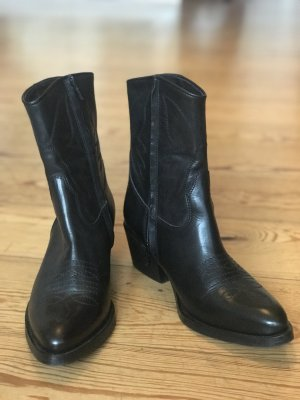 Billi Bi Western Booties black leather