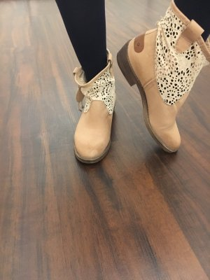 Slouch Booties nude