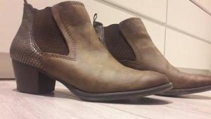 Marco Tozzi Bottines plissées brun