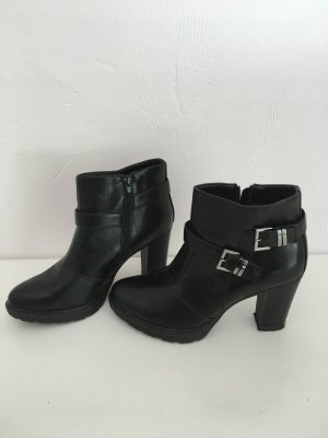 Platform Booties multicolored imitation leather
