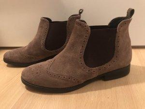 5th Avenue Slip-on Booties light brown-dark brown