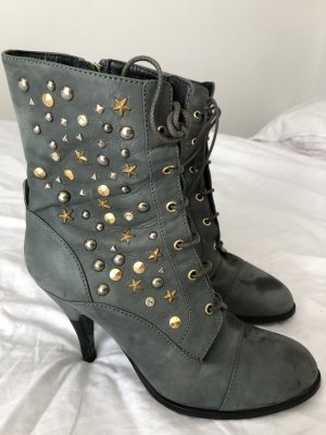 Patricia Pepe Lace-up Booties pale blue