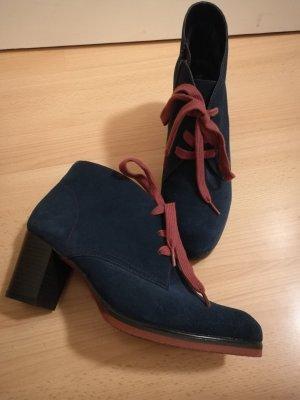 Caprice Low boot bordeau-bleu foncé