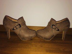 Jumex Platform Booties brown
