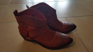 Zara Western laarsjes donkerrood-bordeaux