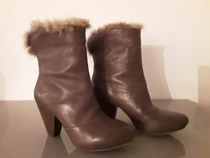 ASH Scarpina di lana marrone chiaro-color cammello Pelle