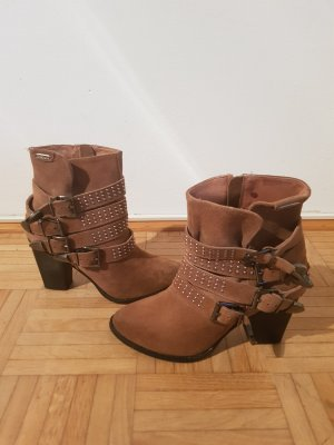 Pepe Jeans Western Booties light brown-brown leather