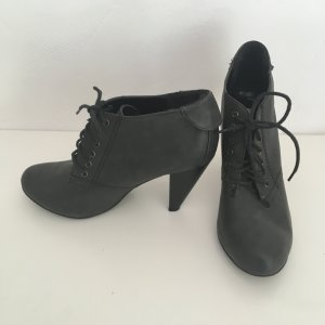 Lace-up Booties dark grey-anthracite imitation leather