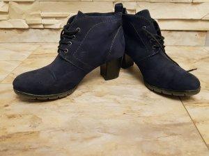 Marco Tozzi Scarpina di lana blu scuro