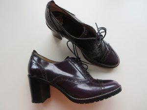 Truman's Lace-up Booties purple leather