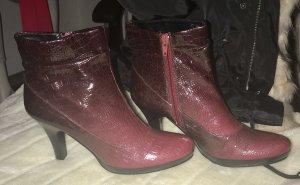 Andrea Conti Zipper Booties purple