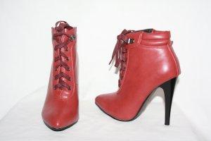 Stiefeletten Ankle Boots 35 --> 36 rostbraun Schnürung High Heels NEU