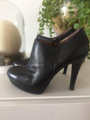 Stiefeletten Ankle Boots Gr 38 schwarz Leder