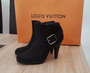 Stiefeletten , Ankle-Boots, schwarz, Gr. 36