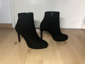 Zara Bottines noir daim