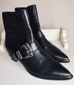 Mango Zipper Booties black