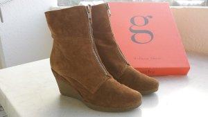 Stiefeletten Ankle Boots Wildleder helles braun von Gadea Gr. 36,5