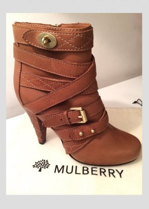 Mulberry Zipper Booties multicolored leather