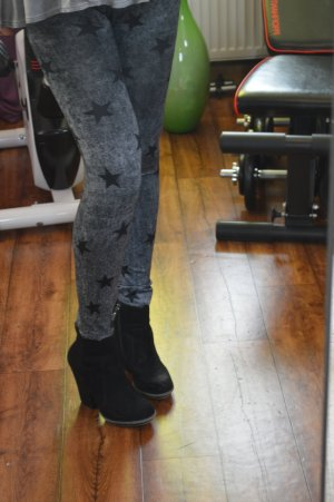 Stiefeletten Ankleboots Plateau Blogger Gr. 39 zara