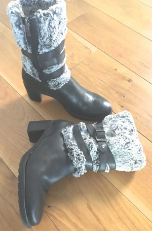 ara Winter Booties black-silver-colored