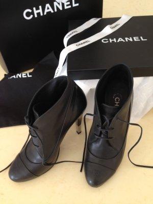 Chanel Scarpina di lana nero Pelle